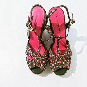 American Eagle Outfitters Shoes - American Eagle Women's Floral Slingback Wedge 7